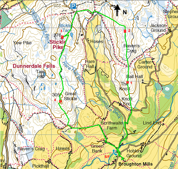 Dunnerdale Fell race Map